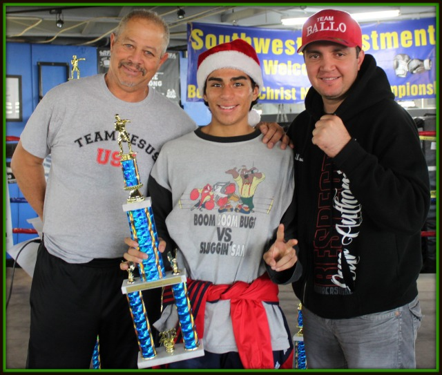 The Boxers for Christ Outstanding Boxer of the tournament went to Fabian Zarco of Barrio Station who had to win three straight bouts to win the 17 and up, 132 pound, Novice Division.