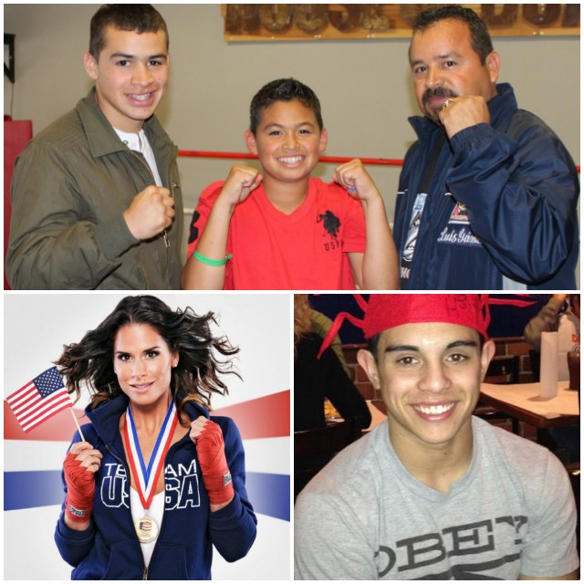 (top) The Gamez clan (l to r) Genaro, Rey and papa Luis - an unbeatable team. (below, l to r) Danyelle Wolf and Adrian Gutierrez.