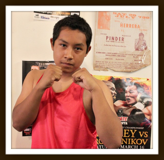 In Bout #7, it was Brenton Perez of Oceanside, CA 16 year-old Adrian Sanchez of Bound Boxing (155.2 pounds) defeating .