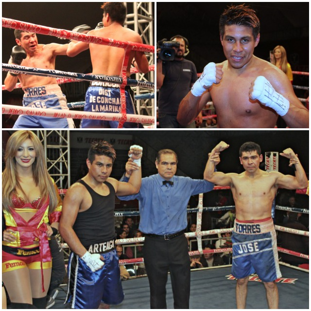 welterweight clash between Jose Torres (3-2-1, 2 KOs) and Jose Arteaga (1-2-2) ended in a draw.