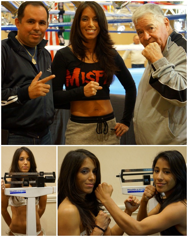 (top) Enriquez's opponent, Noemi Bosques, the pride and joy of St. Petersburg, Florida (4-0-2, 1 KO).