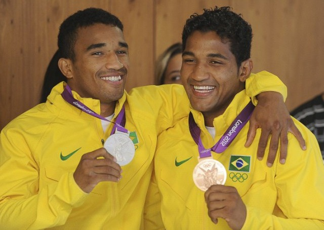 Falcao brothers winning gold medals