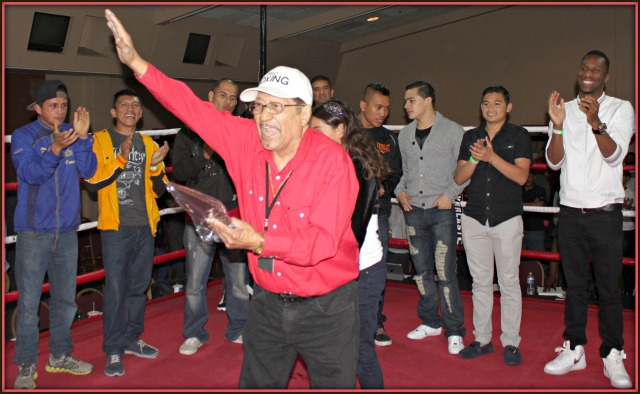"Army corporal, construction worker, boxer, trainer and gym owner, this jack off all trades was honored at the latest ""Ringside at Del Mar"" boxing show on Friday evening, February 21, 2014 at the on the Del Mar Fairgrounds. Photo: Jim Wyatt"