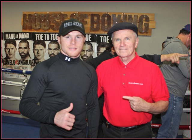 Saul Canelo Alvarez with yours truly