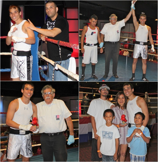 Bout #5 featured two guys making their Amateur debuts, 26 year-old, Matthew Knight (153.2 pounds) of the Bound Boxing Academy, Chula Vista, going up against 21 year-old Pablo Garcia (154.2 pounds) of the Gladiator Boxing Academy, Spring Valley.