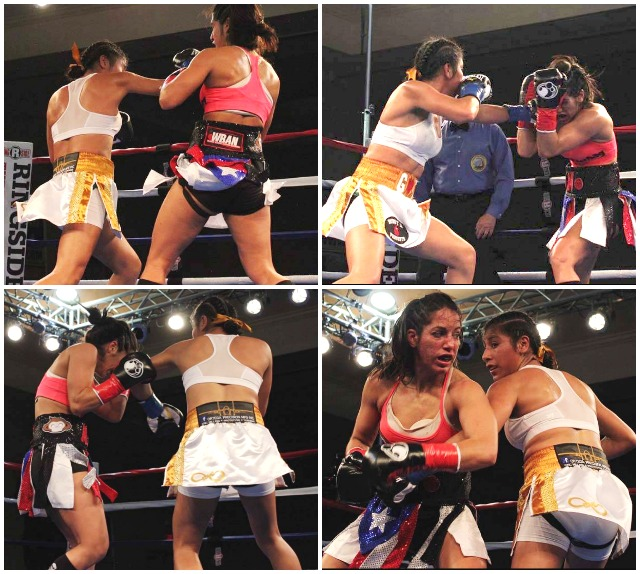 (bottom,  right) After a while, Noemi Bosques (l) discovered the only way to stop Kenia Enriquez was to grab her arm and hold it.
