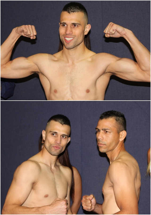 (bottom, l to r) In Bout #5 it will be 27 year-old Francisco Santana (18-3-1, 8 KOs) going up against 34 year-old Jorge Pimental of Guaymas, Mexico (27-21-0, 20 KOs).