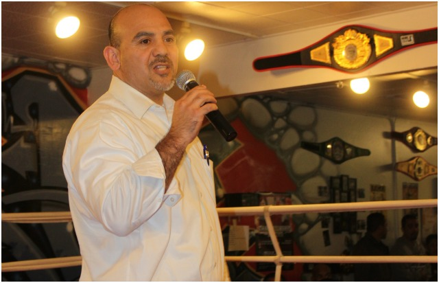 The Master of Ceremonies for the evening was former pro boxer now trainer and well known San Diego Trial Lawyer David Gutierrez.
