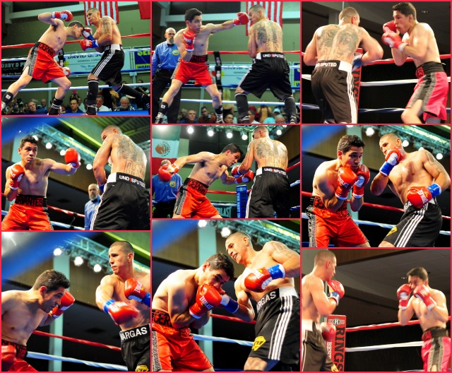Photographer Paul Gallegos was able to catch all of the action between National City's Adrian Vargas (black trunks) and Luis Cervantes (red trunks).