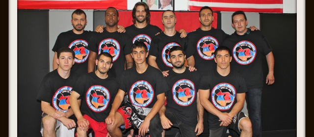 The above gentlemen participated in Saturday's Armenian Genocide Remembrance Event at the Fight Shop on Miramar Road in San Diego. Photo: Jim Wyatt