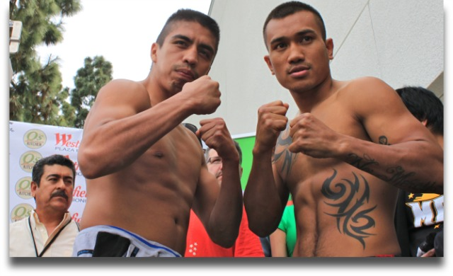 "The much anticipated return of Mercito ""No Mercy"" Gesta to boxing - Friday, April 11, 2014 on the Del Mar Fairgrounds in Del Mar, CA against Edgar ""Basuras"" Riovalle. All photos: Jim Wyatt"