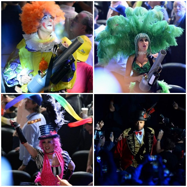 On fight night it was all about pomp and circumstance - jugglers and clowns preceding the ring walk of the great Floyd Mayweather Jr.