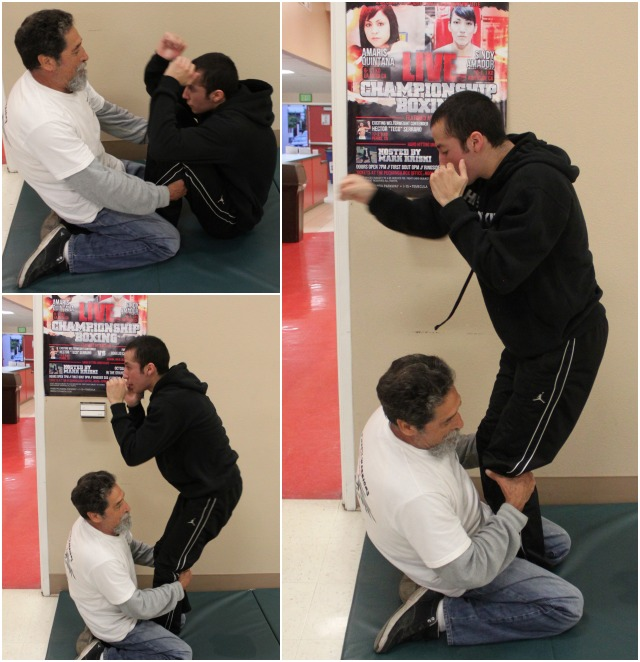 Prize student Kevin Salas has learned to do sit-ups the hard way.