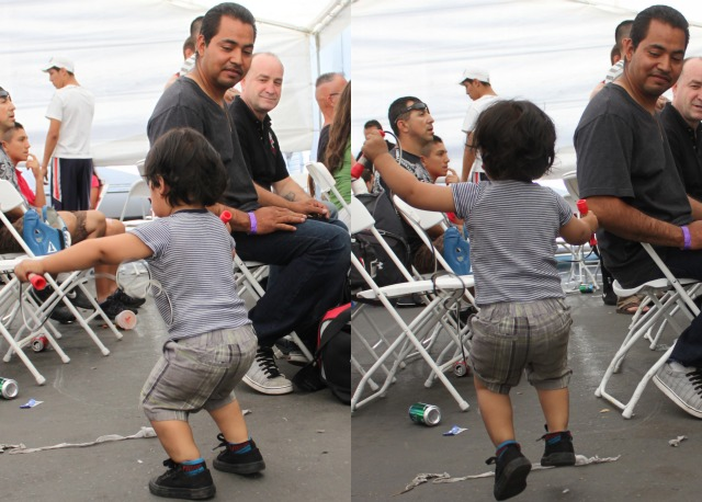The real showstopper - During intermission, this toddler put on quite a show when he started to jump roping for the amusement of onlookers. Photos: Jim Wyatt