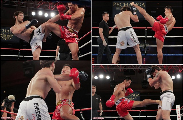 Bout #4, was a WLF Welterweight contest featuring two of the best in the sport, Melsik Baghdasaryan a powerful southpaw from Glendale, CA by way of Yerevan, Armenia and Wei Chao Chen of Beijing, China.