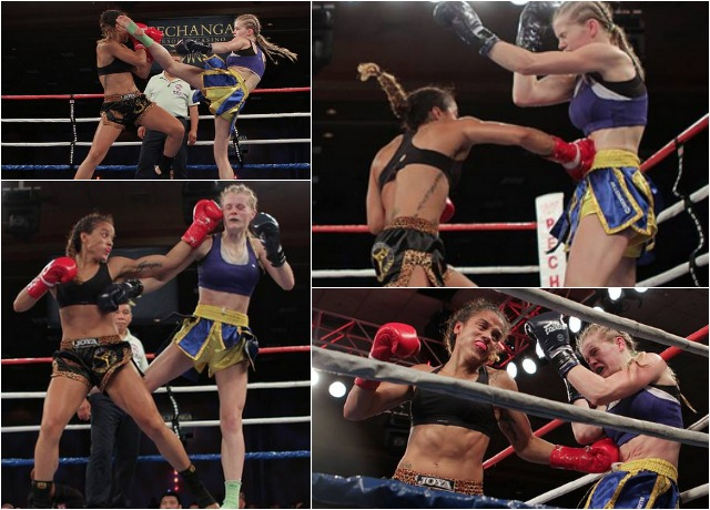 There was plenty of action in the Jemyma Betrian versus Christi Brereton bout.
