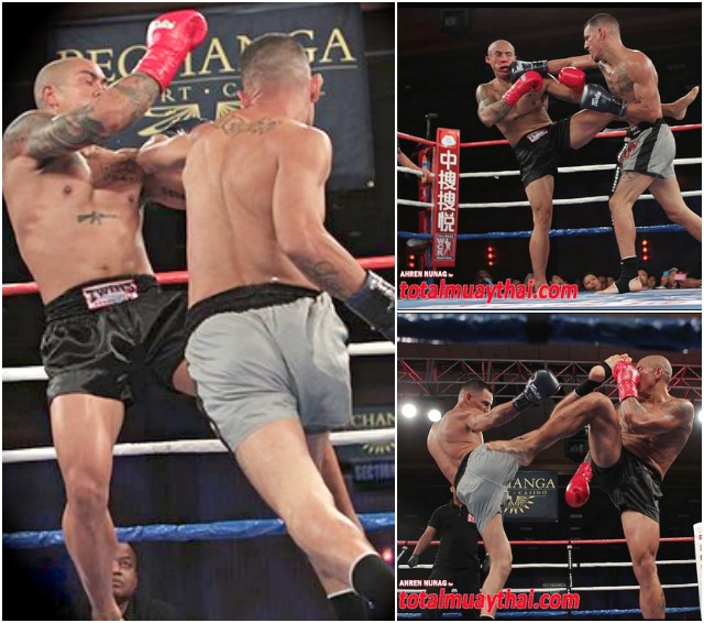 Great action photos from Bout #2 show Michael Aviles on the attack. Photos: Ahren Nunag