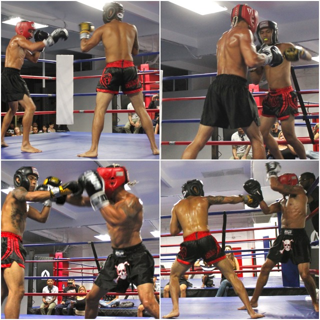 "(top, left) Bout #6 featured a rare, lefty versus lefty match-up between  Ron Ramos (l), the winner and his opponent, Andre ""Dynamite"" Garcia"