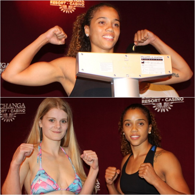 In Saturday's Main Event they have the reigning champion Jemyma Betrian (r) defending her title against the European Champion Christi Brereton of the United Kingdom.