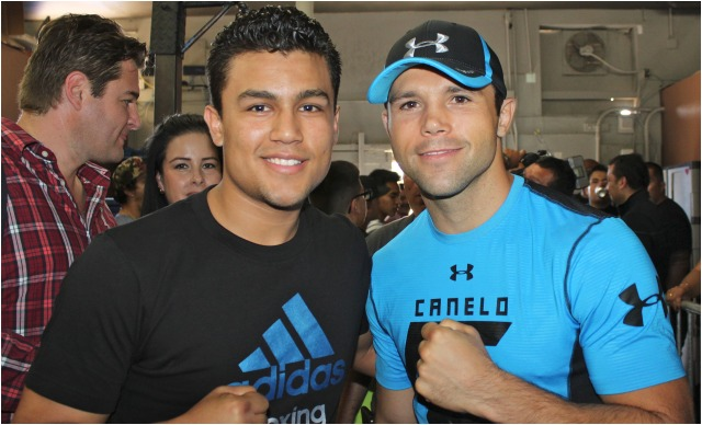 One of the top USA amateurs, Gabriel Hernandez was also on hand for this photo with Canelo's brother, Ricardo Alvarez.