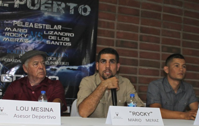 "Mario ""Rocky"" Miraz addresses the assembly of friends and members of the media which included TV, Print and Internet. All photos: Jim Wyatt"