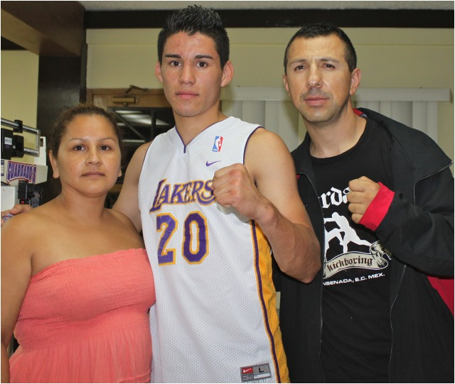Anxious to know more about the Borizteca Boxing Management Group, pro boxer Hector Ambriz Suarez (2-0) attended the weigh-ins. Photo: Jim Wyatt