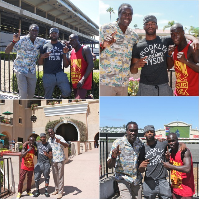 Prior to his weigh-in, boxer Jerome Buchanan of Los Angeles, CA by way of Kalamazoo, Michigan took time out for some photos with his step brother Isaac Freeman and his coach Anthony Sims. All photos: Jim Wyatt