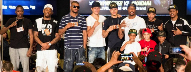 The remaining gentleman are also on Saturday's fight card, a fight card that has a total of 10 bouts scheduled. Esther Lin/Showtime