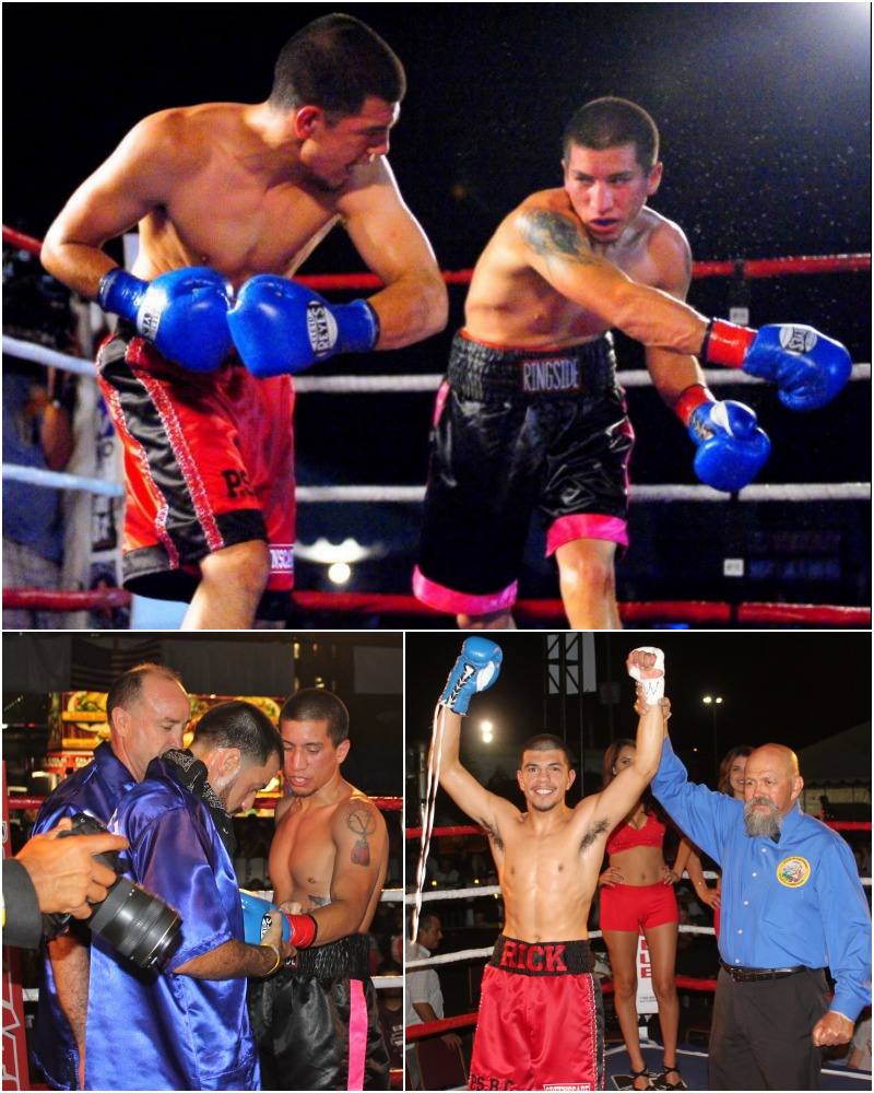 Bout #2 featured super lightweights Reymundo Benavides of San Marcos, CA, making his pro debut, and 22 year-old Rick Quevedo of Palm Springs, CA who in June lost in his debut against David Figueroa (1-0).