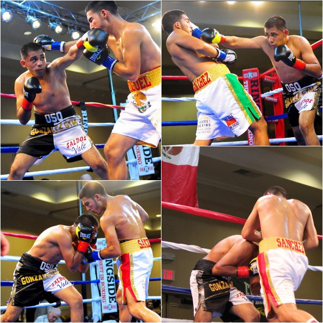 "welterweight Miguel ""Zurdo"" Sanchez (9-0, 7 KOs) of San Diego by way of Culiacan, Sinaloa, Mexico, looked impressive in his destruction of Ivan ""Oso"" Zavala (6-7-2, 2 KOs) of Tijuana, B. C., Mexico."