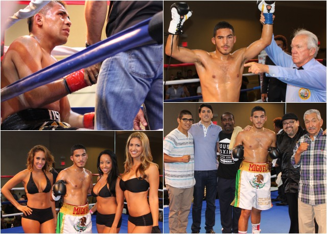 "Miguel ""Zurdo"" Sanchez (9-0, 7 KOs) of San Diego by way of Culiacan, Sinaloa, Mexico, looked impressive in his destruction of Ivan ""Oso"" Zavala (6-7-2, 2 KOs) of Tijuana, B. C., Mexico."
