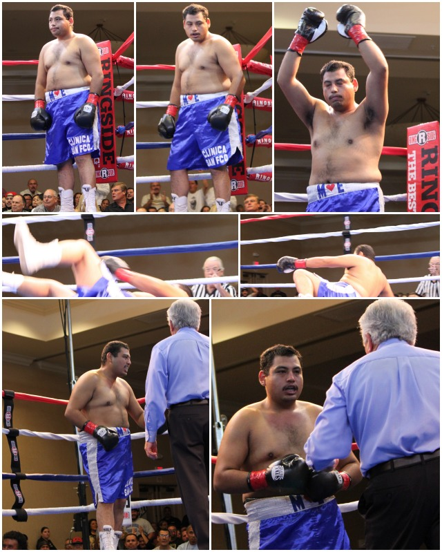 "Chula Vista's Joe ""The Bull"" Delgadillo got an unexpected battle royale from Tijuana's Edgar ""Porky"" Najera. Photos: Jim Wyatt"