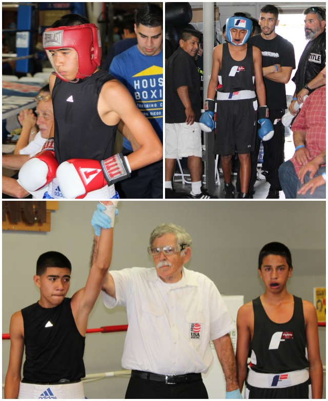 In Bout #3, it was 14 year-old Giovanny Rodriguez of the host gym, The House of Boxing, going up against 14 year-old Jonathan Coronado