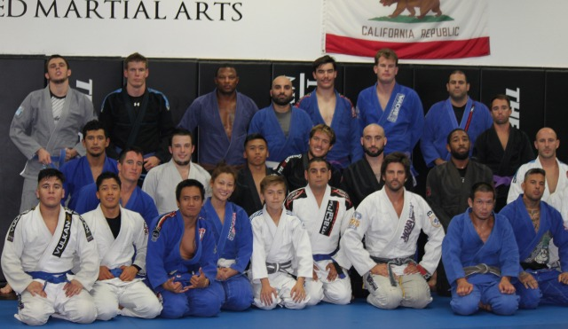 This is just one of the many classes that Baret Yoshida is now teaching.