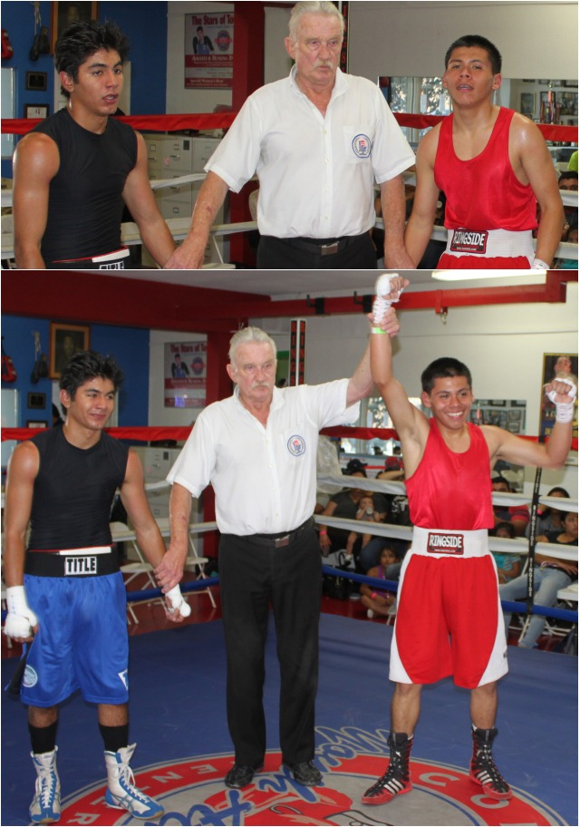 The closing match of the tournament was also a classic featuring the winner in his debut Alexis Villareal from the host gym the National City CYAC defeating the game Marco Sastaita of Tanos Boxing.