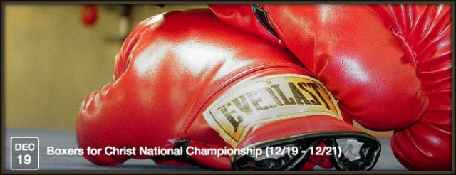 22nd Annual Boxers for Christ 2014 National Tournament begins tonight at 6:30 p.m at United Boxing and Fitness inChula Vista, CA.