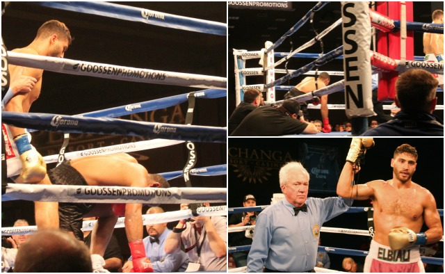 In Bout 12, Ahmed Elbiali of Miami, Florida by way of Egypt got the TKO victory over Lawrence Blakey from Pittsburgh, Pennsylvania.