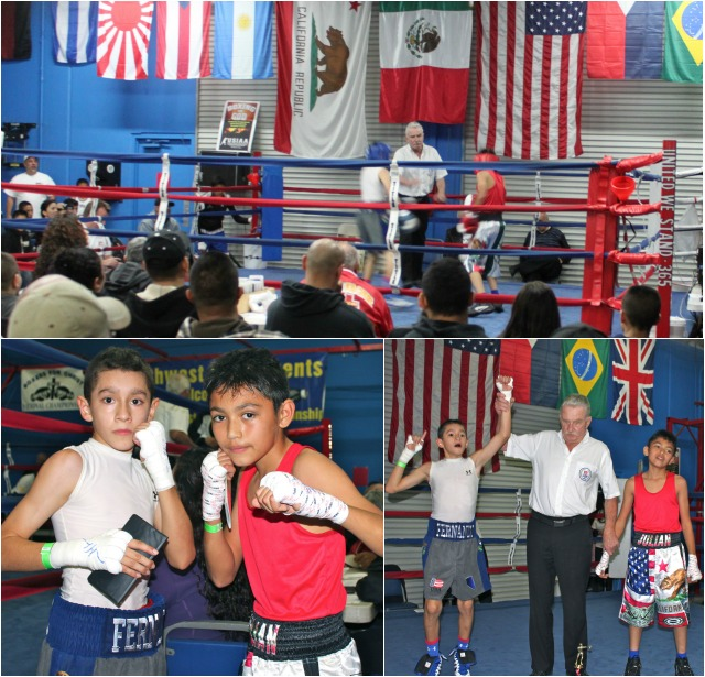"In Bout 2 it was southpaw Fernando Diaz (34-1) of Richard Steel Boxing, Las Vegas, Nevada out scoring the less experienced Julian ""The Mexican"" Rojas of Bound Boxing, Chula Vista in the 11/12 age group, 80 lbs."