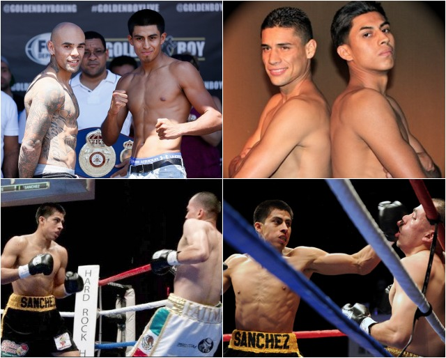 (top down, l to r) The three most memorable fights - the step-up fight with Collazo, the draw with Luis Grajeda and the successful rematch versus Artemio Reyes.