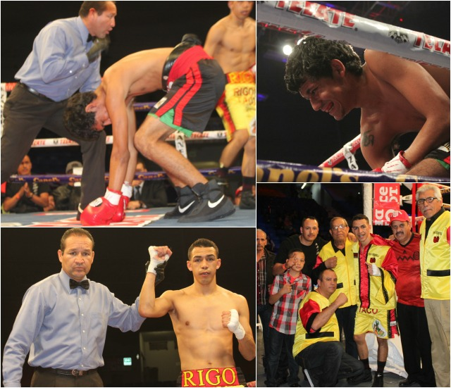 In Bout #15 it was Rigoberto Harmosillo (2-0-0) getting the best of Hector Aguilar (0-3-1).