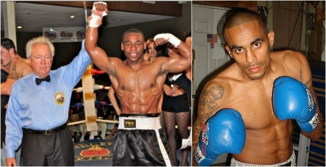 """In Bout #3 of the Jr. Middleweights it will be Brandon """"Cannon"""" Adams (l) of Los Angeles, CA taking on Alex """"The Brick City Bullet"""" Perez (r) from Newark, New Jersey."""
