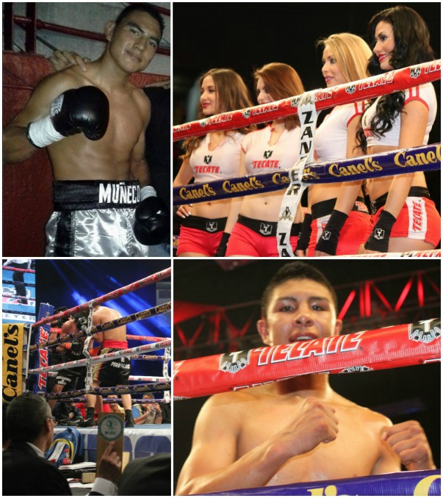 The Alan Zavala (top, left) versus Jaime Munguia (bottom, right) fight was a last man standing, all out war in which Munguia proved to be stronger and more durable.
