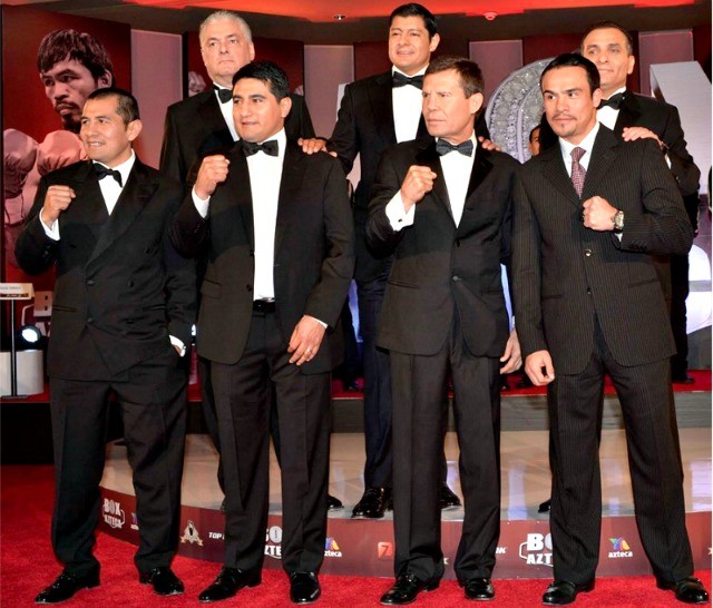 You should recognize these gentleman; in all likelihood the entire Azteca broadcast team will be at ringside for these title fights.