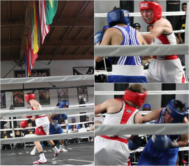 The boxers in Bout #3, took turns pummeling each other.