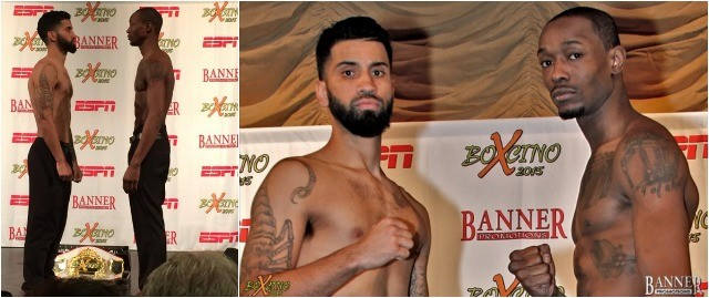 (l to r) Ricardo Pinell 154 lbs., John Thompson 154¼ lbs.