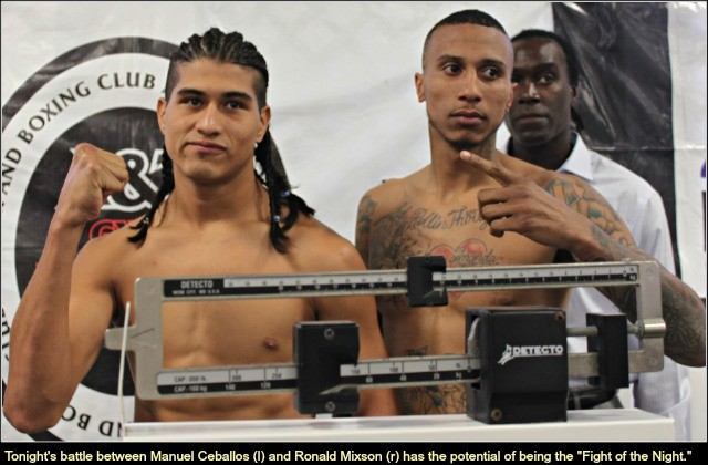 "Prediction - the light heavyweight bout between Manuel ""El Venado"" Ceballos and Ronald Mixson will be the bout of the night. All photos: Jim Wyatt"