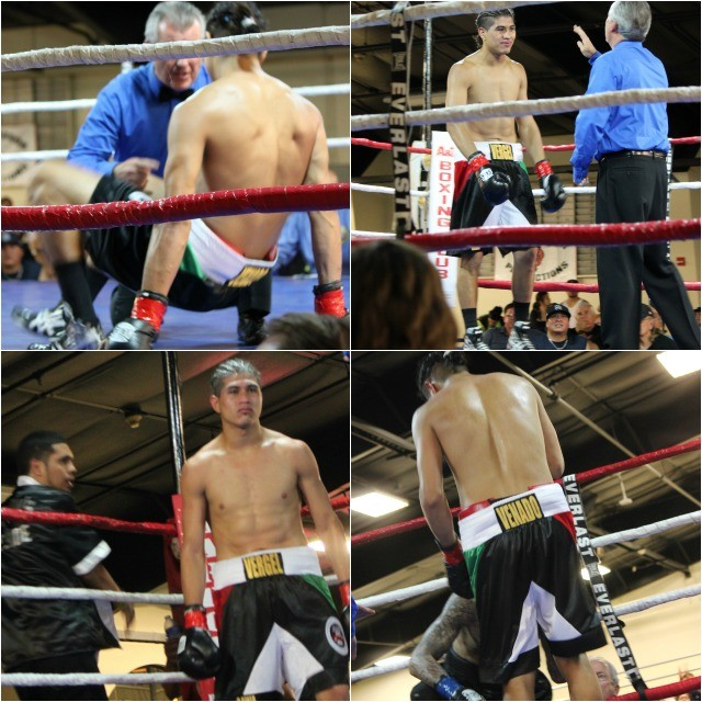 The two first round knockdowns by Ronald Mixson of Manuel Ceballos