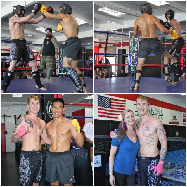 Arthur Kim with a year of Muay Thai training and tons of experience in Taekwondo going up against an up and comer Coast Guard Reservist who has one of the coolest names on the planet - Dakota Flippin.