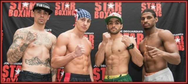 "(l to r) Johnny Garcia, Cletus ""The Hebrew Hammer"" Seldin, Raymond Serrano and Jeremy Bryan."
