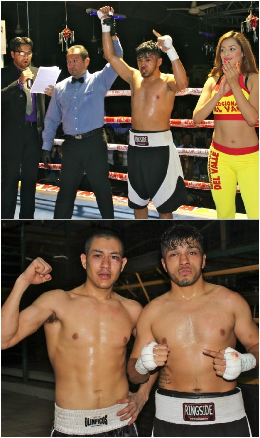 (l to r) The combatants in Bout #1 were Jesus Trujillo, the eventual winner